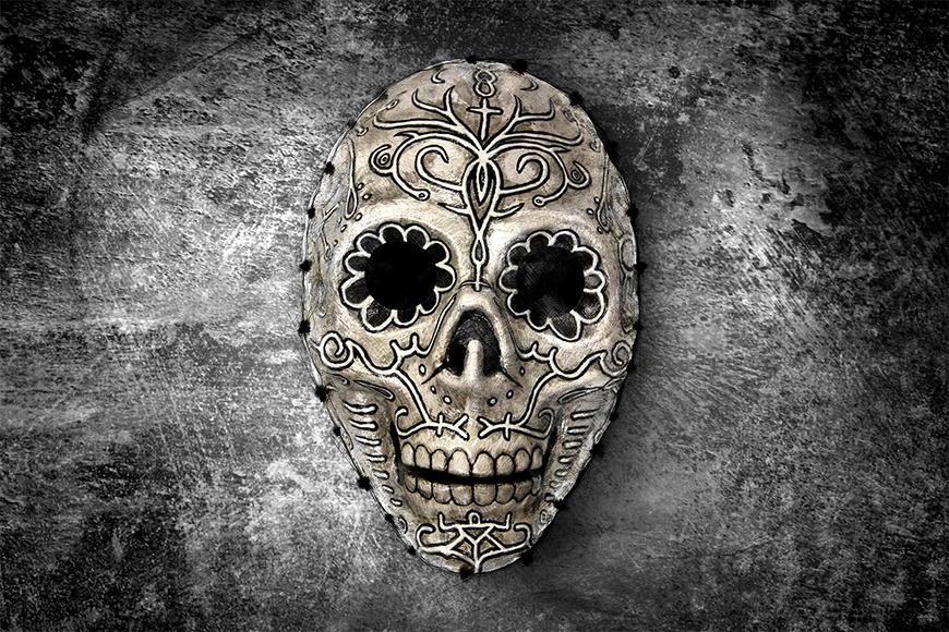 Vliesbehang Monochrome Skull