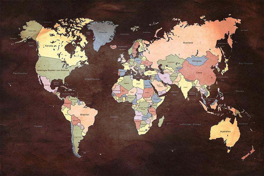 Vliesbehang Old Worldmap 2 vanaf 120x80cm