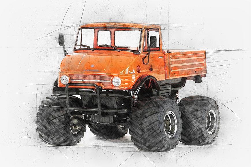 Vliesbehang Orange Mog