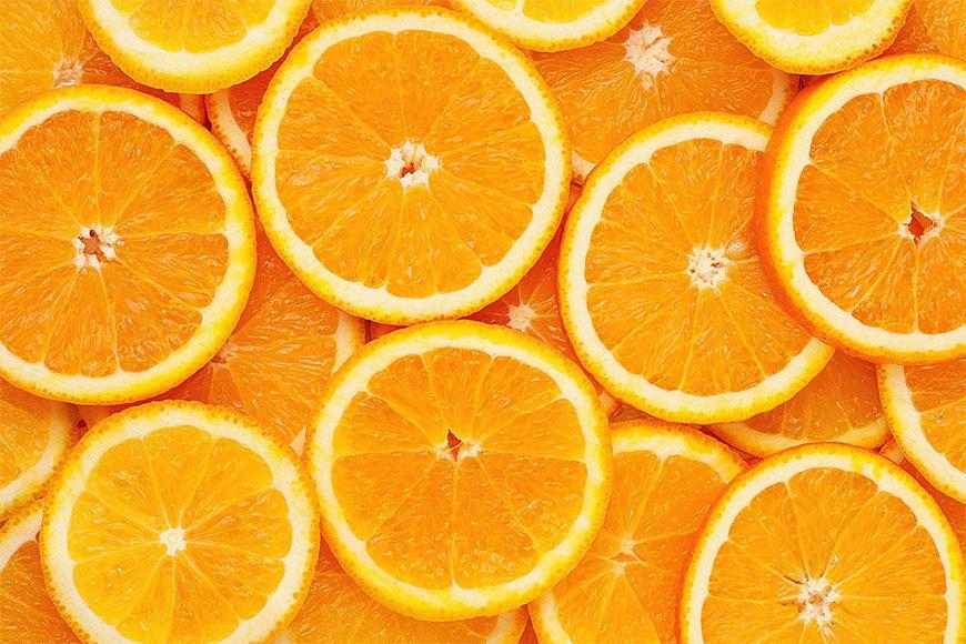 Vliesbehang Oranje Moment vanaf 120x80cm