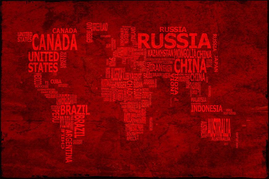 Vliesbehang Wereldkaart 18 vanaf 120x80cm