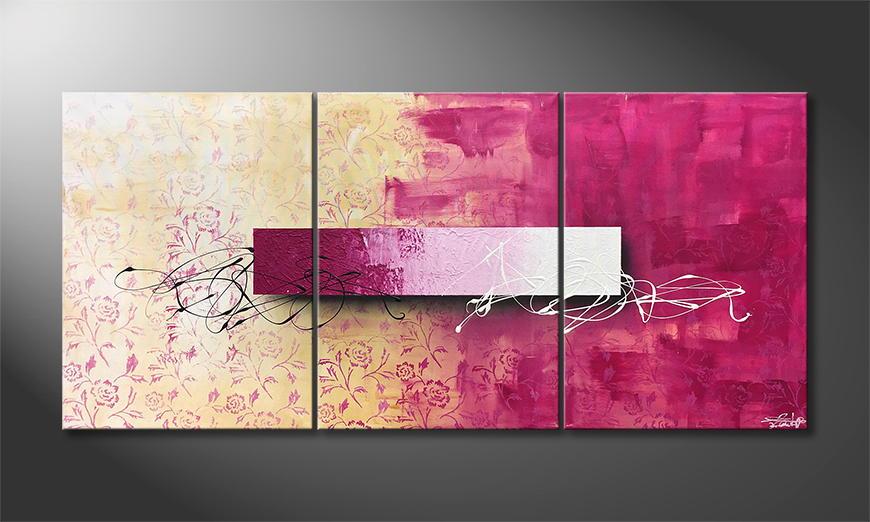 De schilderij Bloc Lights 150x70x2cm