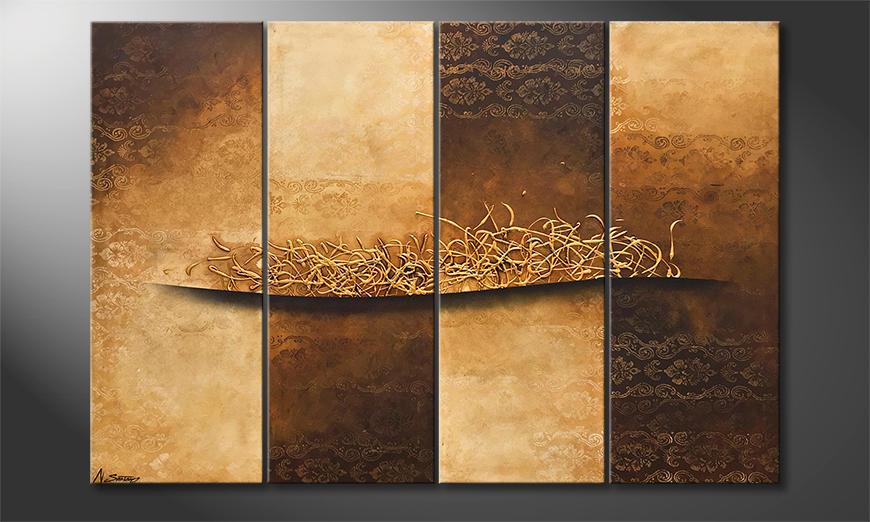 De schilderij Changes Of Time 160x110x2cm