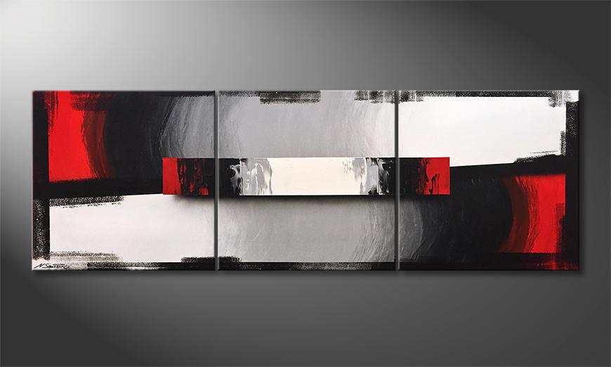 De schilderij Clear Thoughts 210x70x2cm