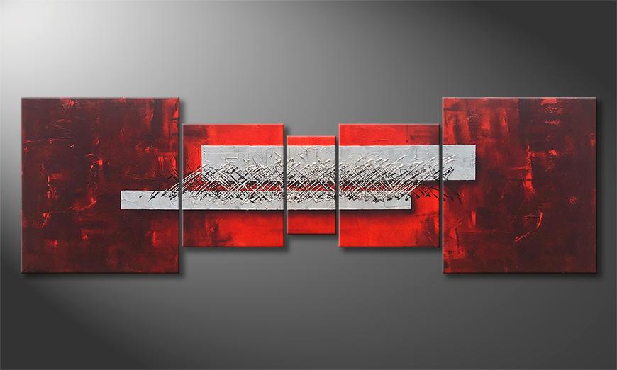 De schilderij Clear Thoughts 220x70x2cm