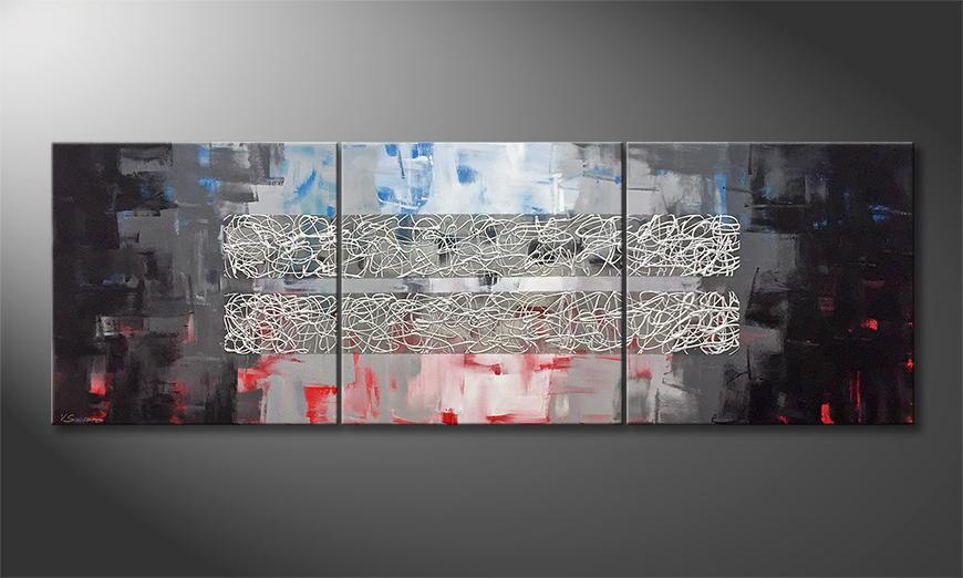 De schilderij Cold Hotness 210x70x2cm