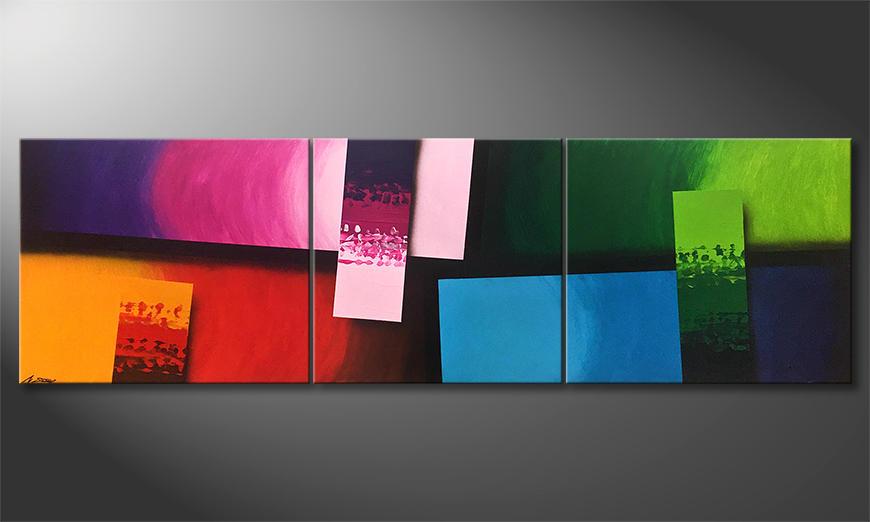 De schilderij Color Comic 260x80x2cm