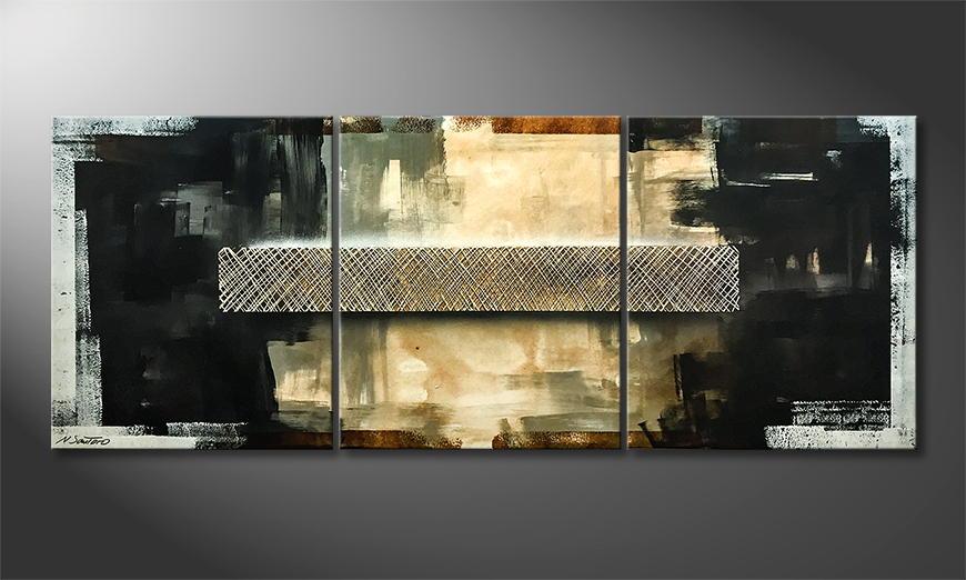 De schilderij Deepness 180x70x2cm