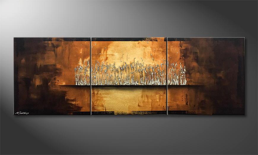 De schilderij Earth Secret 210x70x2cm