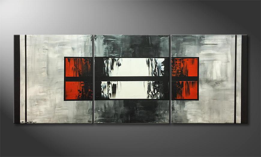 De schilderij Ending Contrast 180x70x2cm