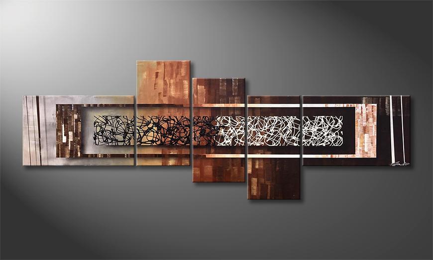 De schilderij Endless Dawn 210x80x2cm