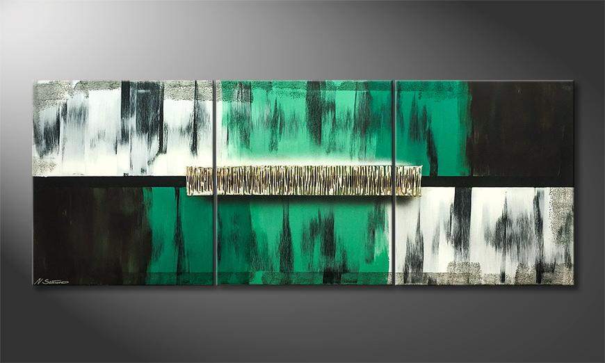 De schilderij Fresh Moment 180x70x2cm