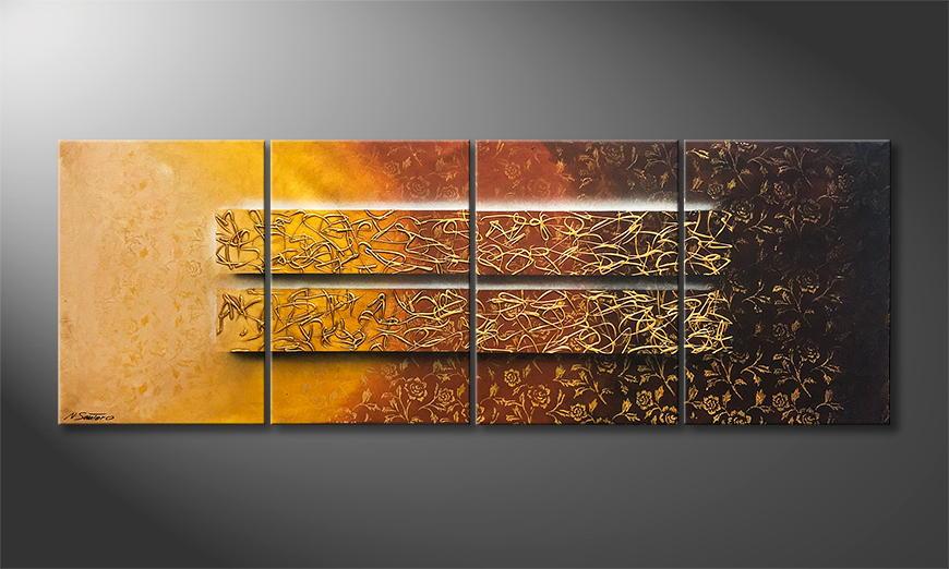 De schilderij Garden Of Gold 200x70x2cm
