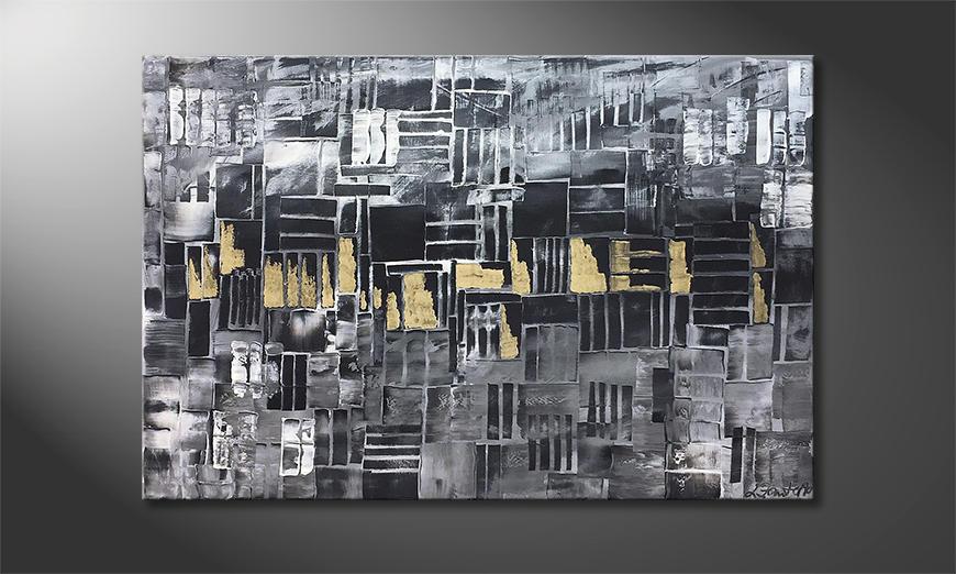 De schilderij Golden Lights 120x80x2cm