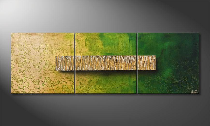 De schilderij Morning Chill 180x60x2cm