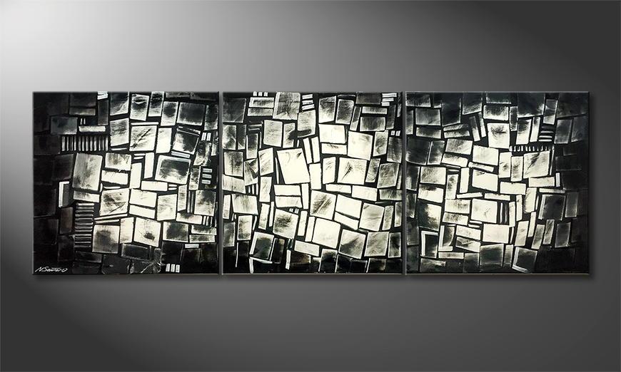 De schilderij NYC-Construct 210x70x2cm