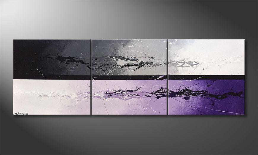 De schilderij Night Color Splash 210x70x2cm