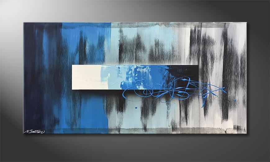 De schilderij Night Into Day 120x60x2cm