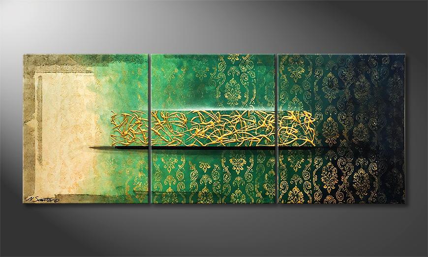 De schilderij Oriental Wonder 150x60x2cm