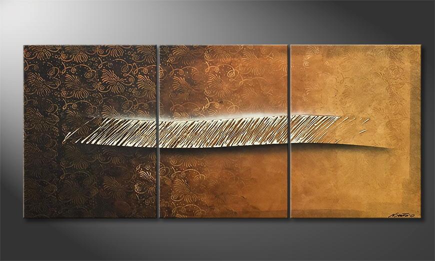 De schilderij Piece Of Rain 180x80x2cm