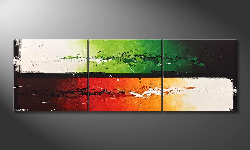 De schilderij Refresh Splash 210x70x2cm