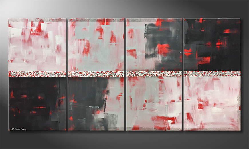 De schilderij Riven Grey 160x80x2cm