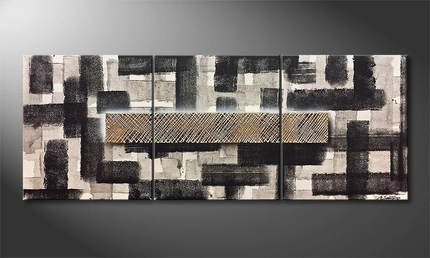 De schilderij Secret Maze 180x70x2cm