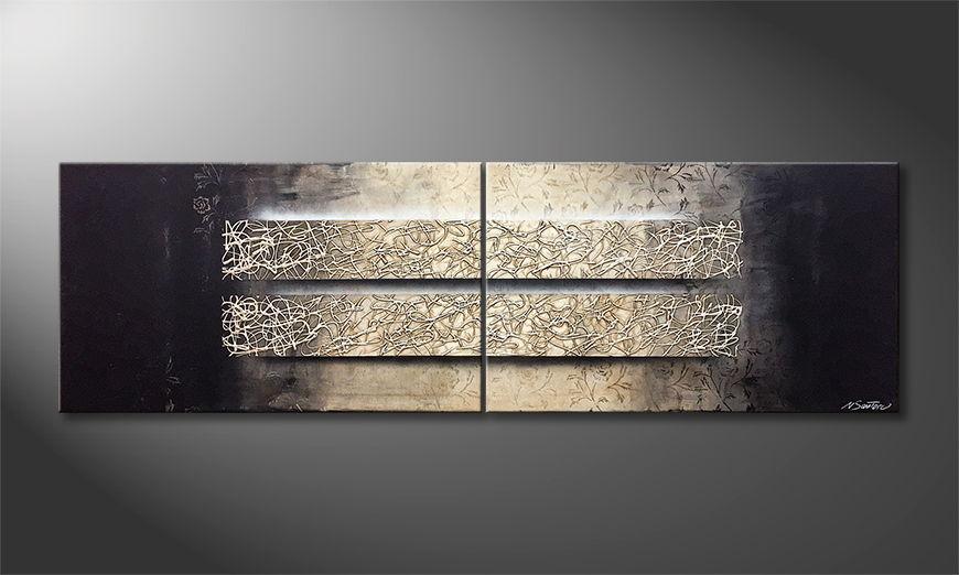 De schilderij Sentimental Memories 200x60x2cm