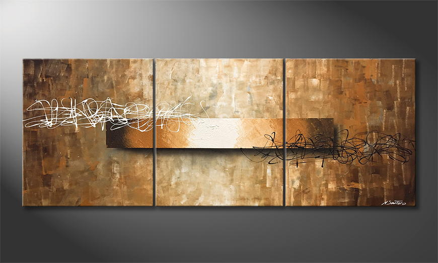 De schilderij Signs Of Light 180x70x2cm