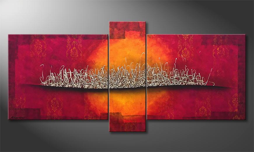 De schilderij Silver Blaze 190x90x2cm
