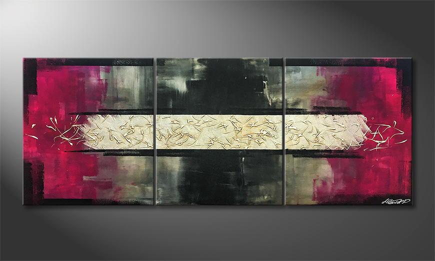 De schilderij Stream Of Life 180x70x2cm