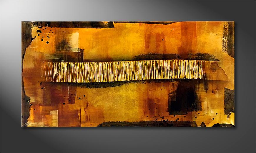 De schilderij Sunset Dream 120x60x2cm