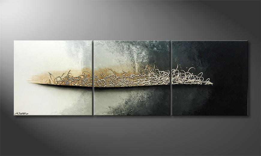 De schilderij Trust 210x70x2cm