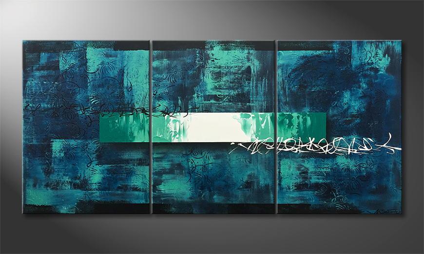 De schilderij Underwater Light 150x70x2cm