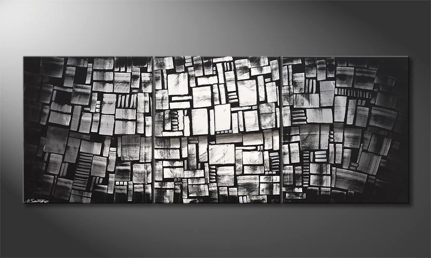 Exclusieve schilderij Shadow Play 180x70x2cm