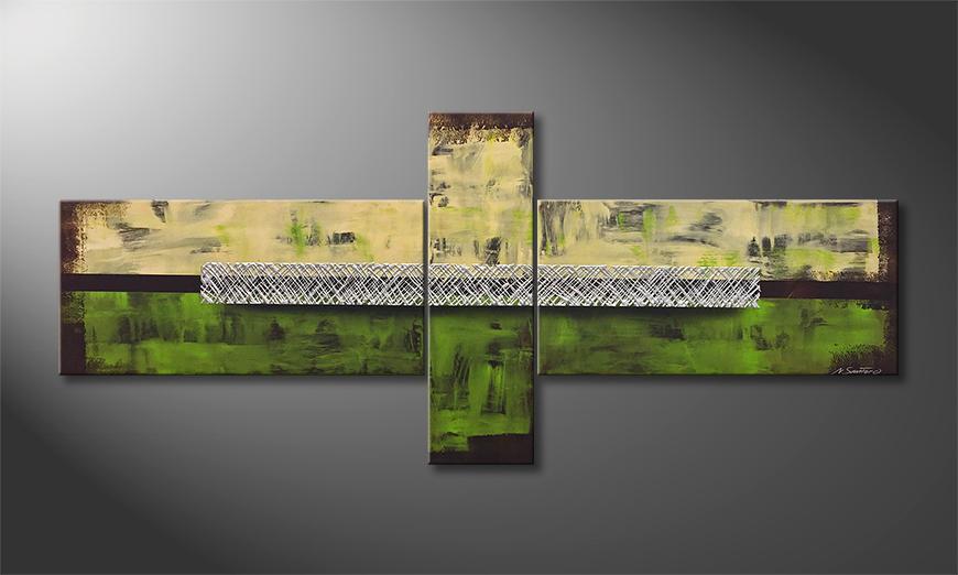 Exclusieve schilderij Vivid Gold 230x100x2cm