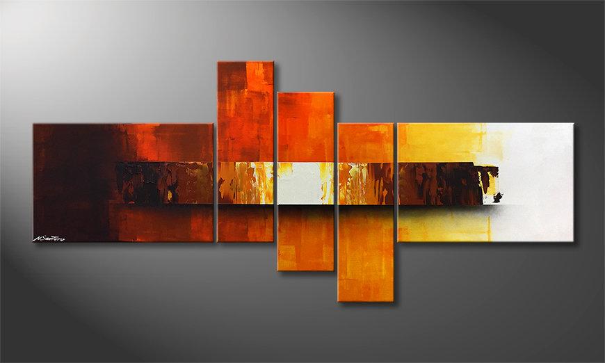 Het aardige schilderij Fiery Illumination 210x80x2cm