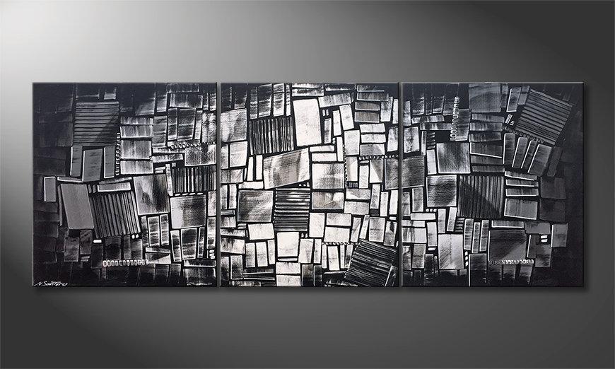 Het aardige schilderij Night Lights 210x80x2cm