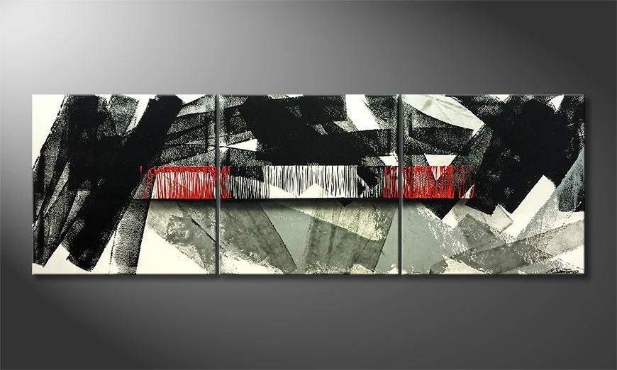 Het canvas Abstract Life 210x70x2cm