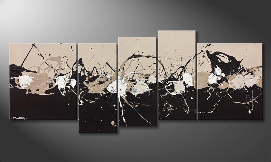 Het canvas Coffee Splash 190x80x2cm