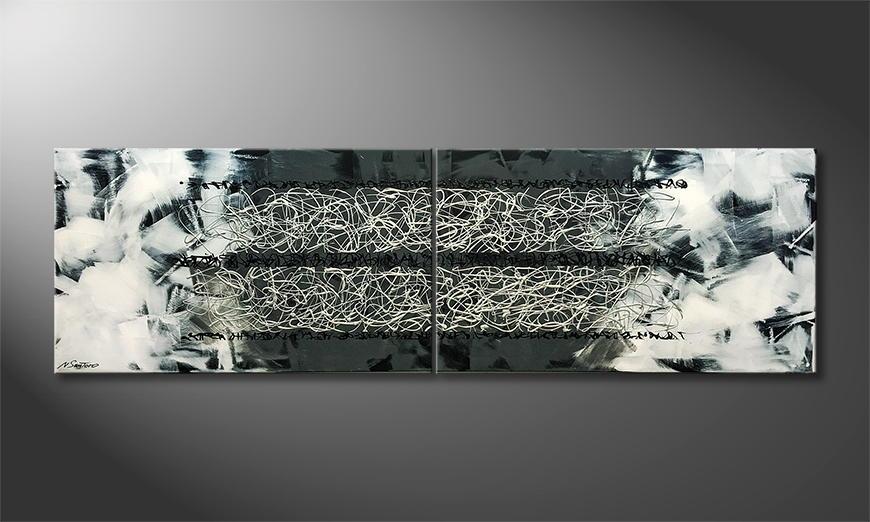 Het canvas Disordered Order 200x60x2cm