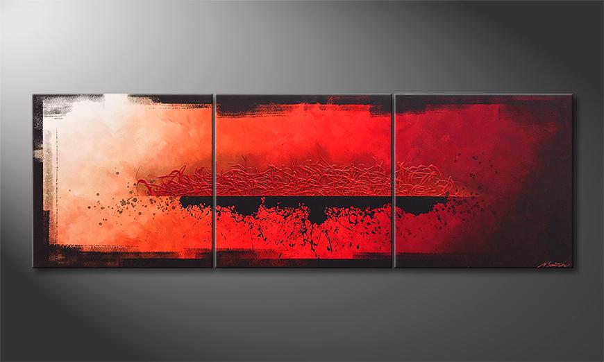 Het canvas Exalation 210x70x2cm