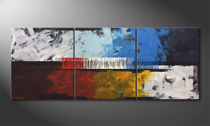 Het canvas Fire And Ice 180x70cm