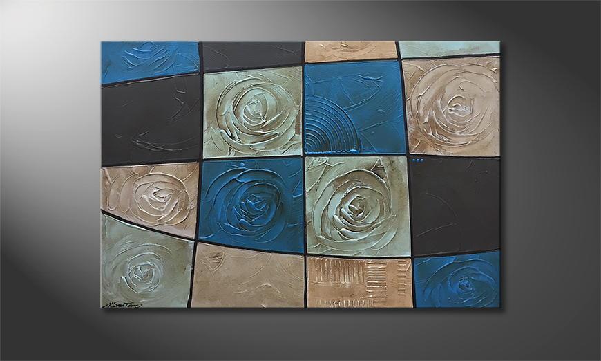 Het canvas Frozen Roses 120x80x2cm