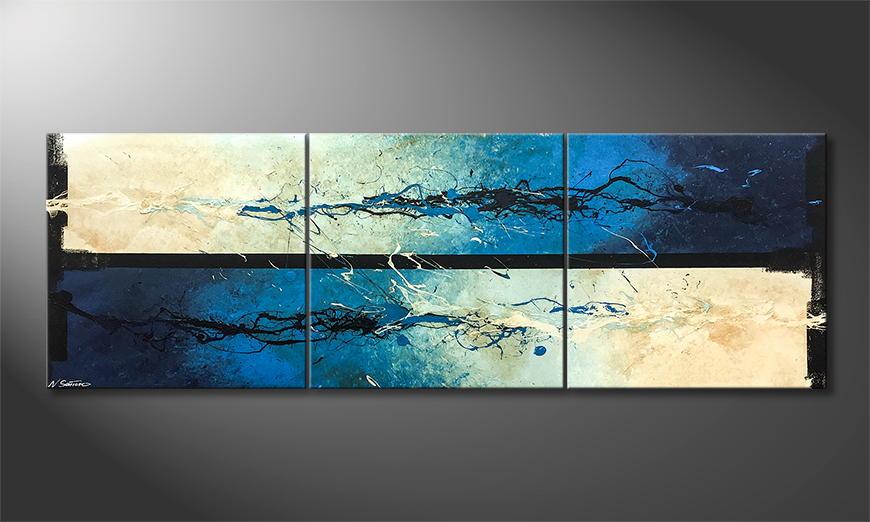 Het canvas Frozen Water 210x70x2cm
