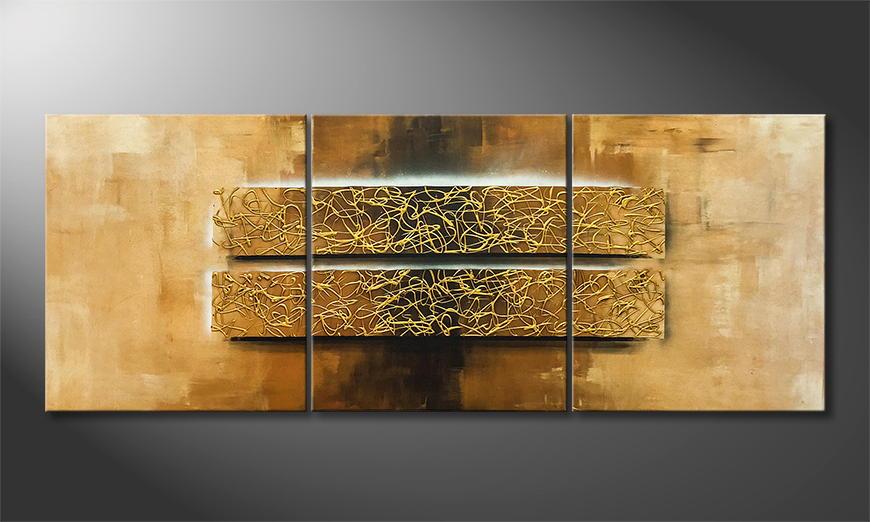 Het canvas Gold Of Luxor 180x70x2cm