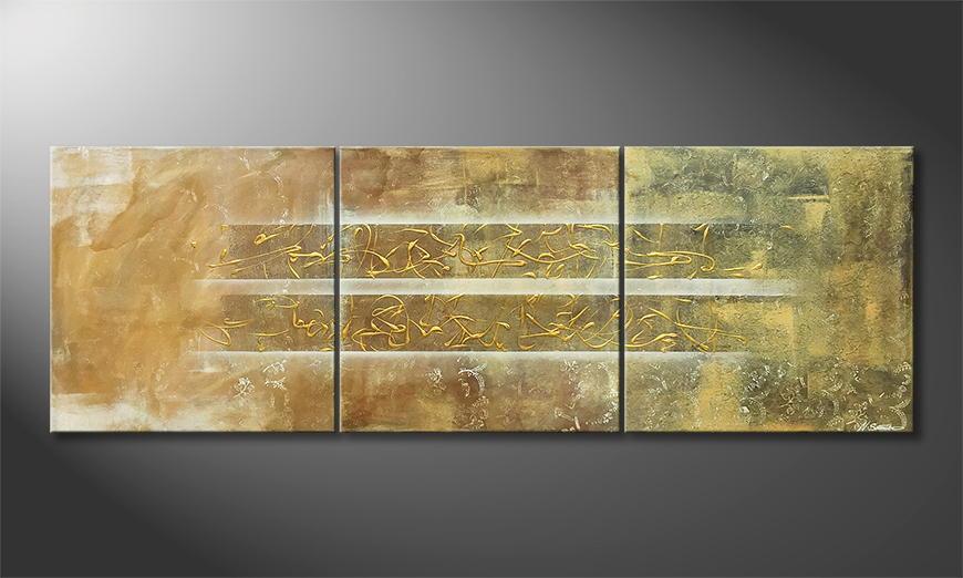 Het canvas Golden Easiness 210x70x2cm