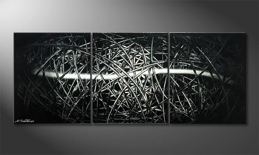 Het canvas Hidden Secret 180x70x2cm