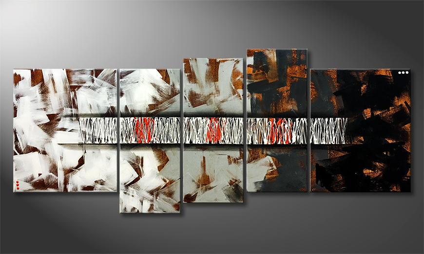 Het canvas Hidden Signs 190x80x2cm