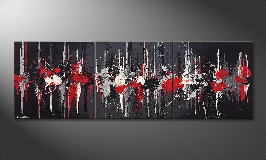 Het canvas Impulses 210x70x2cm